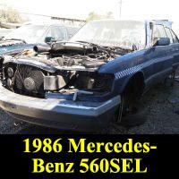 Junkyard 1986 Mercedes-Benz W126
