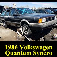 Junkyard 1986 Volkswagen Quantum Syncro
