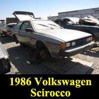 Junkyard 1986 Volkswagen Scirocco