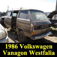 Junkyard 1986 VOlkswagen Vanagon