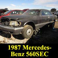 Junkyard 1987 Mercedes-Benz 560SEC