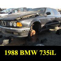 Junkyard 1988 BMW 735iL