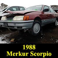 Junkyard 1988 Merkur Scorpio