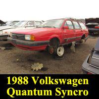 Junkyard 1988 Volkswagen Quantum Syncro
