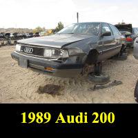 Junkyard 1988 Audi 200 Quattro Turbo