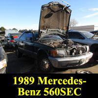 Junkyard 1989 Mercedes-Benz 560SEC