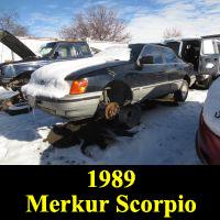 Junkyard 1989 Merkur Scorpio