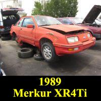 Junkyard 1989 Merkur XR4Ti