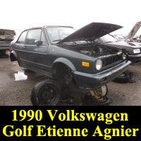 Junkyard 1990 Volkswagen Golf