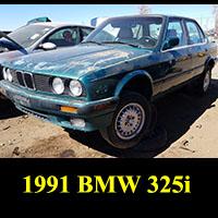 Junkyard 1991 BMW 325i E30