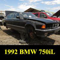 Junkyard 1992 BMW 750iL