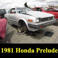 Junkyard 1981 Honda Prelude