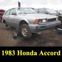 Junkyard 1983 Honda Accord