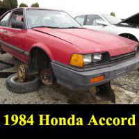 Junkyard 1984 Honda Accord