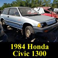 Junkyard 1984 Honda Civic 1300