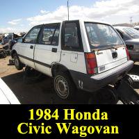 Junkyard 1984 Honda Civic Wagovan
