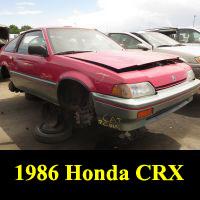 Junkyard 1986 Honda CRX