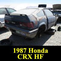 Junkyard 1986 Honda Civic CRX HF