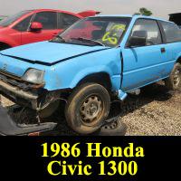 Junkyard 1986 Honda Civic 1300