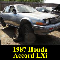 Junkyard 1987 Honda Accord LXi