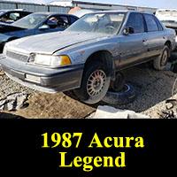 Junkyard 1987 Acura Legend