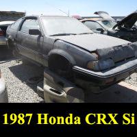 Junkyard 1987 Honda CRX Si