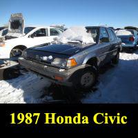 Junkyard 1987 Honda Civic