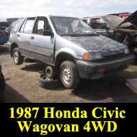 Junkyard 1987 Honda Civic 4WD Wagovan