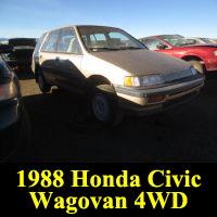 Junkyard 1988 Honda Civic Wagovan 4WD