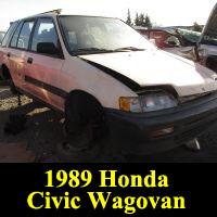 Junkyard 1989 Honda Civic Wagovan