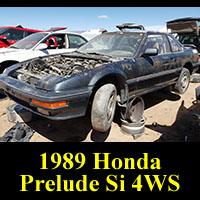 Junkyard 1989 Honda Prelude Si 4WS