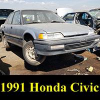 Junkyard Canadian 1991 Honda Civic