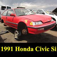 Junkyard 1991 Honda Civic Si