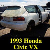 Junkyard 1993 Honda Civic VX
