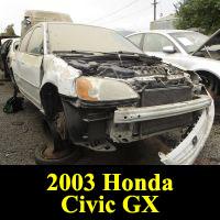 Junkyard 2003 Honda Civic GX