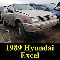 Junkyard 1989 Hyundai Excel GL
