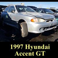 Junkyard 1997 Hyundai Accent GT