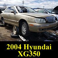 Junkyard 2004 Hyundai XG350