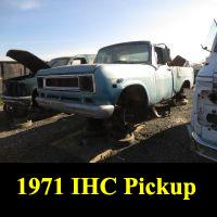 Junkyard 1971 IHC 1200D Pickup