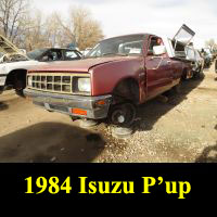 Junkyard 1984 Isuzu P'up