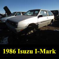 Junkyard 1986 Isuzu I-Mark