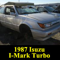 Junkyard 1987 Isuzu I-Mark Turbo