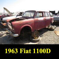 Junkyard 1963 Fiat 1100D