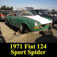 Junkyard 1971 Fiat 124 Sport Spider