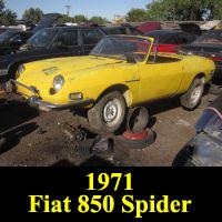 Junkyard 1971 Fiat 850 Spider
