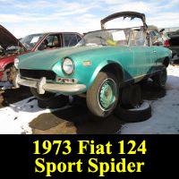 Junkyard 1973 Fiat 124 Sport Spider