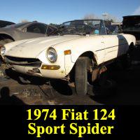 Junkyard Fiat 124 Sport Spider