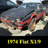 Junkyard 1974 Fiat X1/9