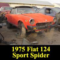 Junkyard 1975 Fiat 124 Sport Spider