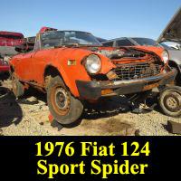 Junkyard 1976 Fiat 124 Sport Spider